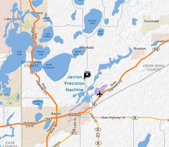 Brainerd MN Area - Javron Map
